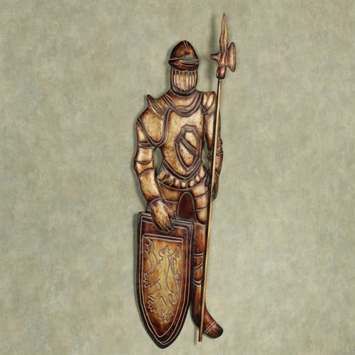 Knight in Armour I Wall Art Gold/Bronze