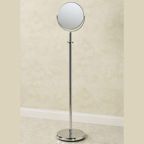 Adjustable 4x Magnifying Metal Standing, Adjustable Floor Stand Mirror