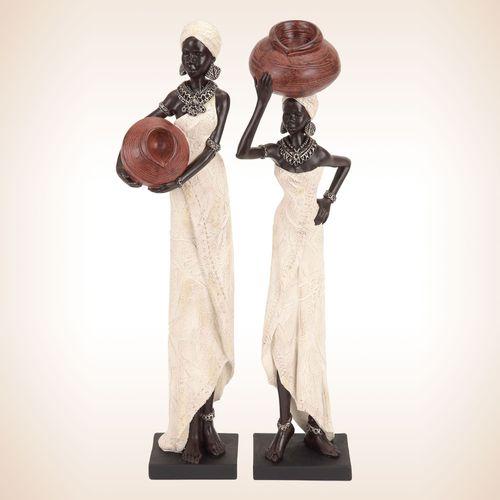 Miata and Zoe Sculpture Set Ivory Set of Two