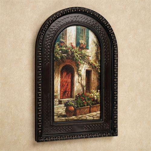 Red Door Framed Wall Art Multi Warm
