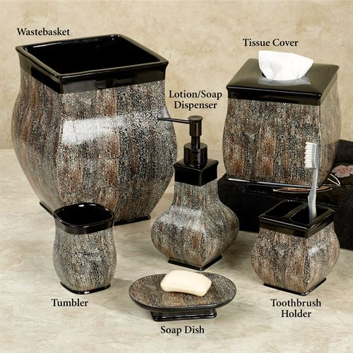 Borneo Lotion Soap Dispenser Black/Tan