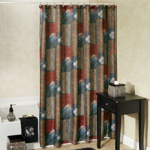 Borneo Shower Curtain Multi Warm 72 x 72