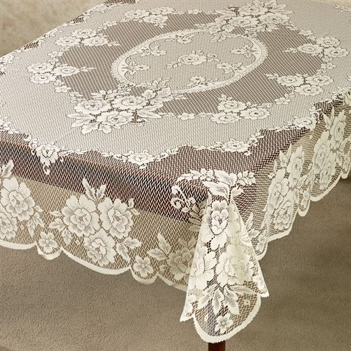 Victorian Rose Floral Lace Table Linens