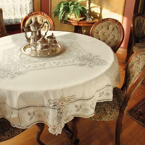 Antique Lace Round Tablecloth 70 Diameter
