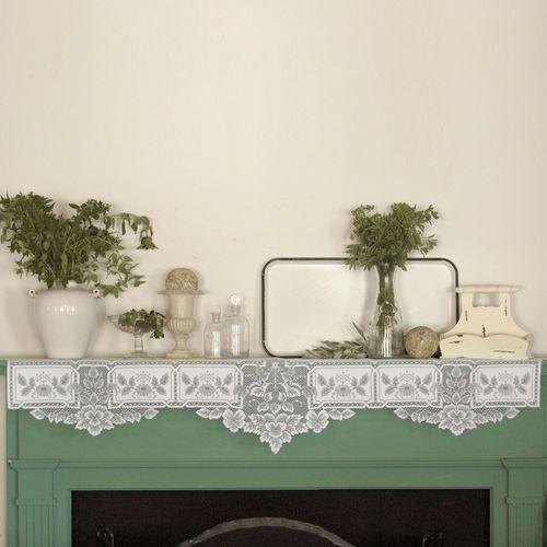 Antique Lace Mantel Scarf 20 x 91