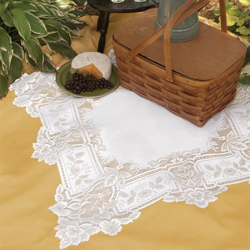 Antique Lace Square Table Topper 36 x 36