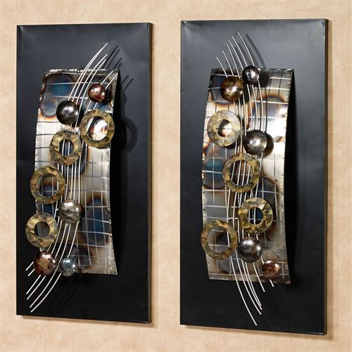 Silver Wave Wall Art Panel Set Of Two