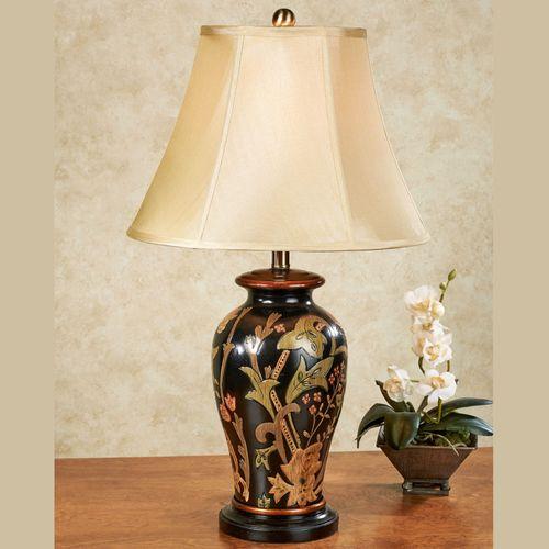 Zepra asian inspired black ceramic table lamp zepra table lamp black mozeypictures Images