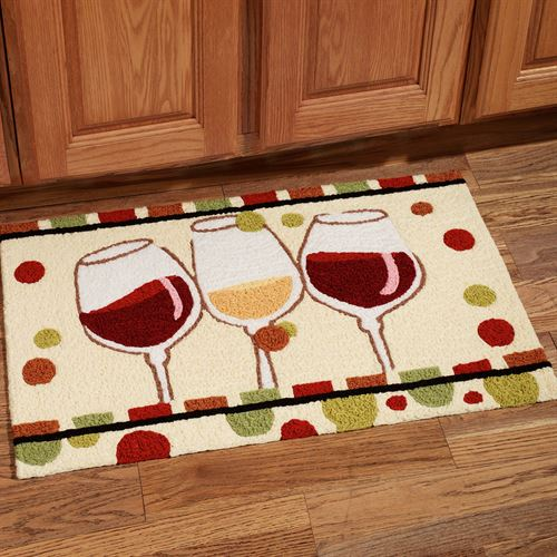 Merveilleux En Vin Wine Rug Multi Warm 19 X 29
