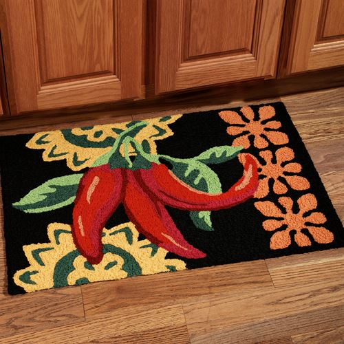 Cayenne Peppers Rug Multi Warm 19 x 29