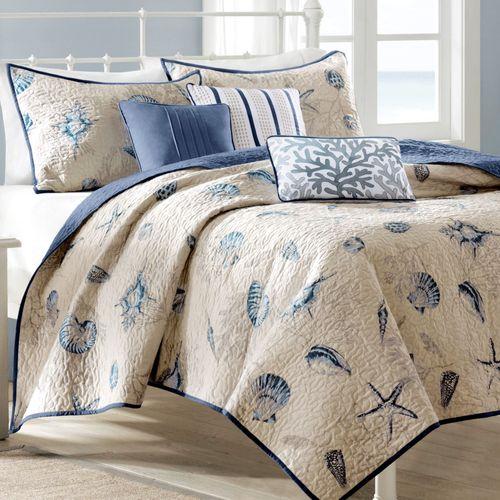 Nantucket 6 pc Coverlet Bed Set Ecru