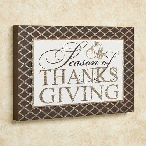 Season of Thanksgiving Wall Art Brown