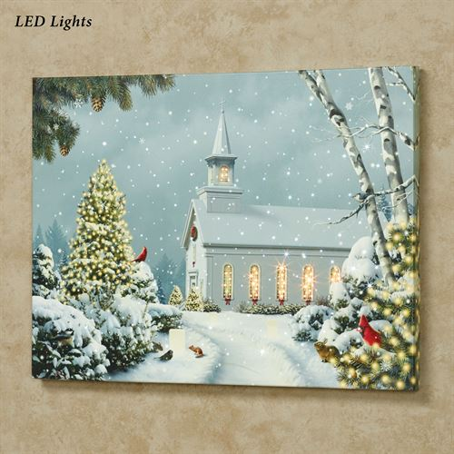Church Lighted Canvas Art Multi Cool