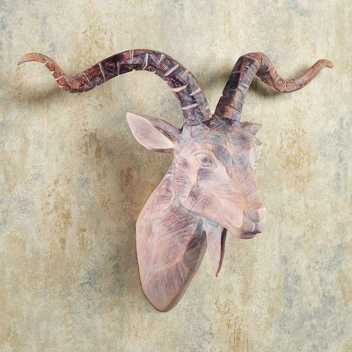 Antelope Head Wall Art Beige/Brown
