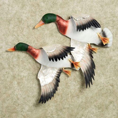 Ducks in Flight Wall Art Multi Jewel