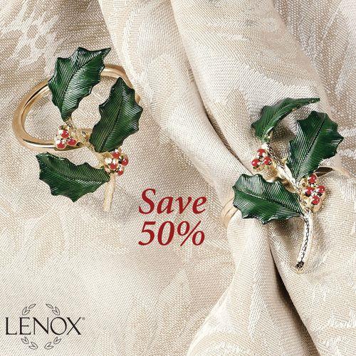 Lenox Holiday Napkin Ring Set