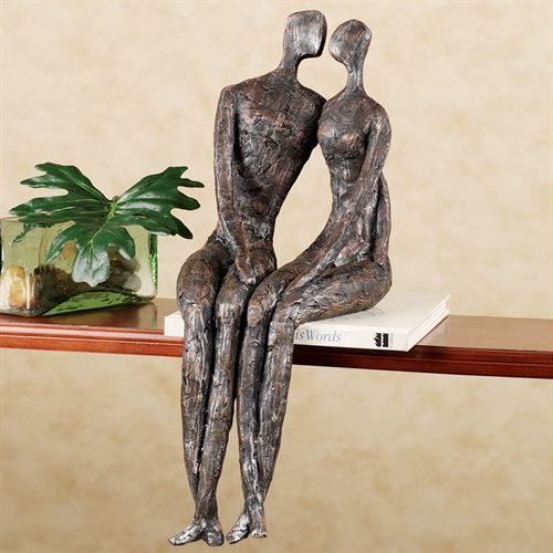 Side by Side Shelf Sitter Charcoal Black