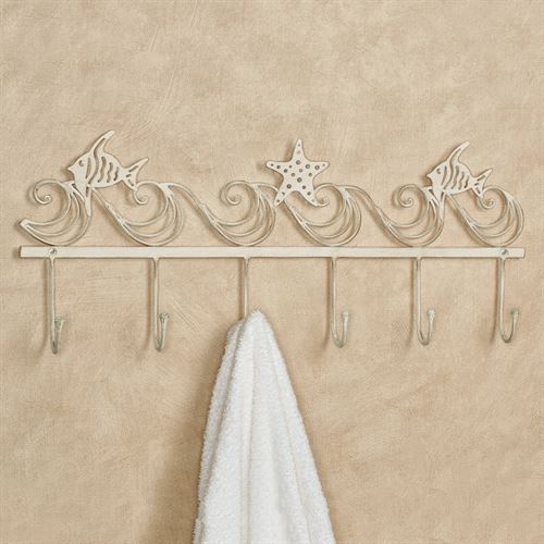 Coastal Wave Wall Hook Rack Creamy Gold