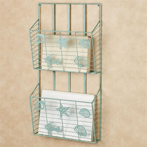 Coastal Wave Wall Magazine Rack Double