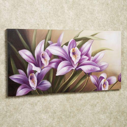 Wild Orchid Canvas Art Purple