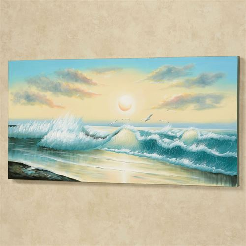 Wave of Wonder Canvas Art Turquoise