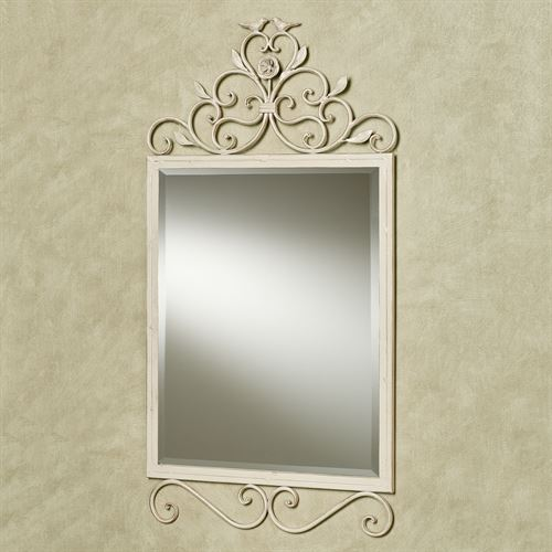Wings of Love Wall Mirror Creamy Gold