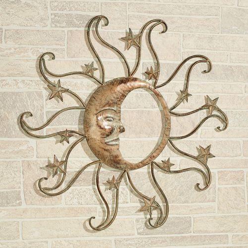 Sun and Moon Wall Art Tarnished Gold