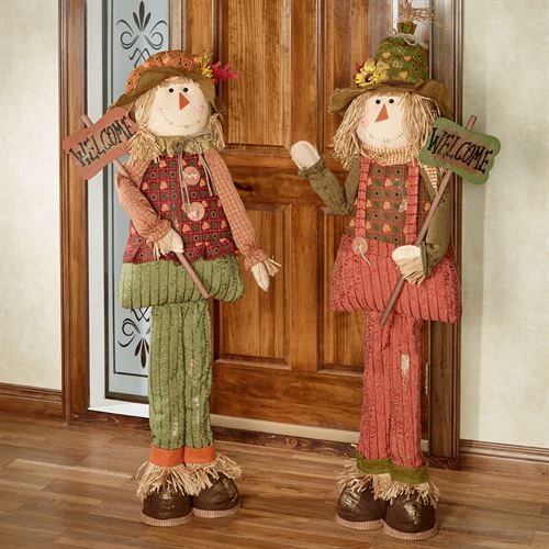 Scarecrow Couple Welcome Set Multi Warm Set of Two