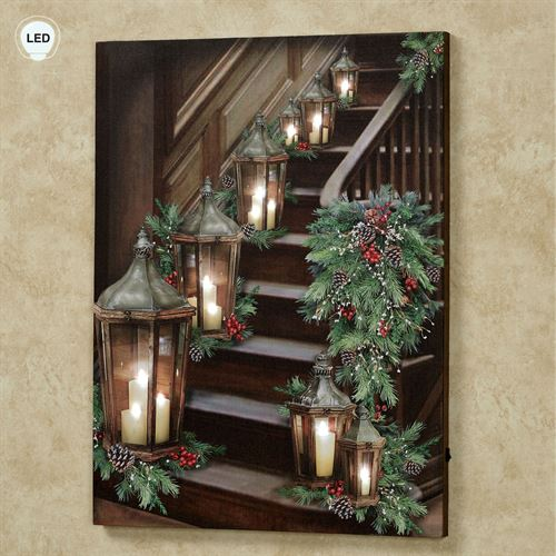 Lighted Stairway LED Lighted Canvas Brown