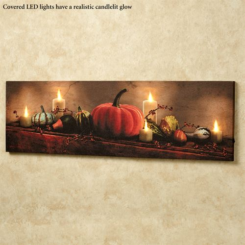 Harvest Display LED Lighted Canvas Multi Warm