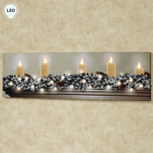 White Christmas LED Canvas Multi Warm