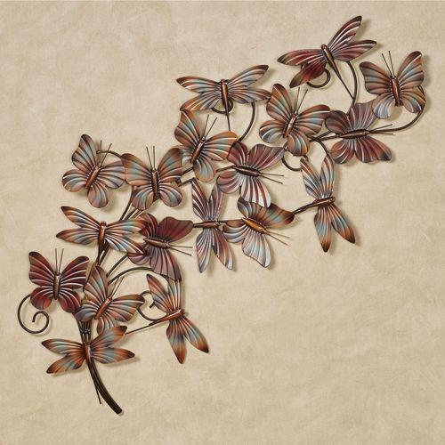 Butterfly Breeze Wall Art Sculpture Multi Earth