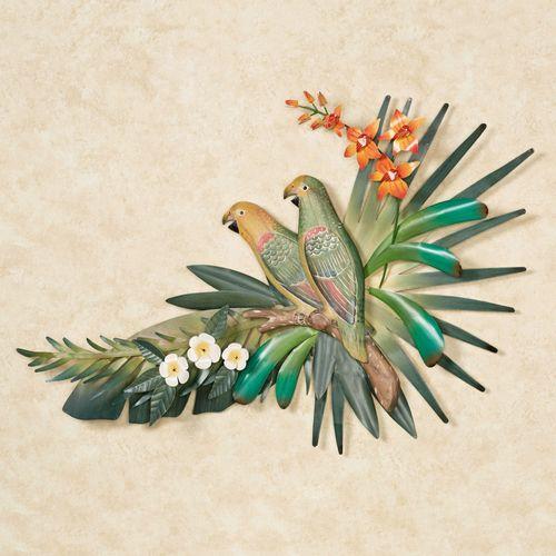 Amazon Parrots Wall Sculpture