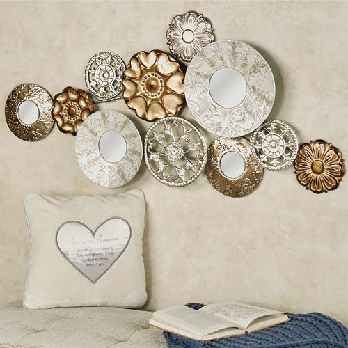 Elegant Composition Mirrored Wall Art Multi Metallic