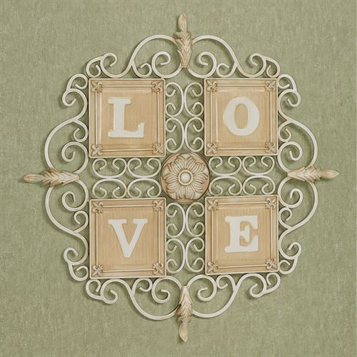 Love Wall Grille Antique Ivory