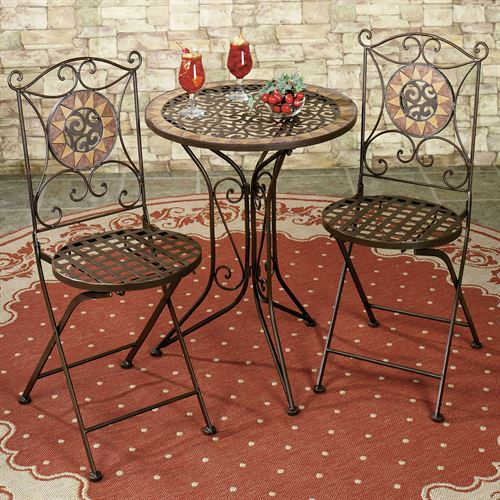 Sandria Bistro Table and Chairs Brown Set of Three