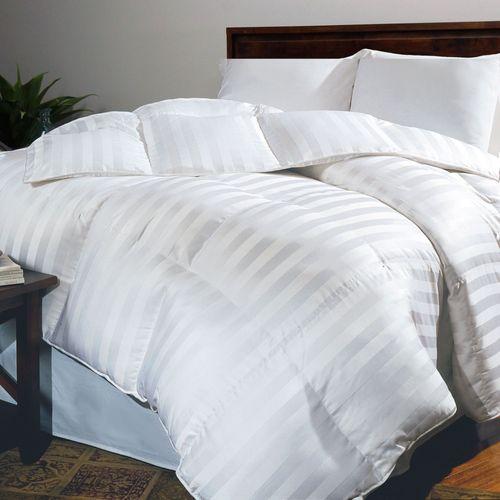 Siberian Stripe Down Comforter White