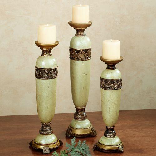 Estelle Citron Candleholder Set Set of Three