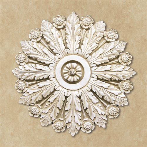 Roxanne Acanthus Wall Plaque Antique White