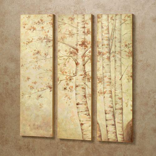 Fall Leaves Triptych Wall Art Set Multi Earth Set of Three