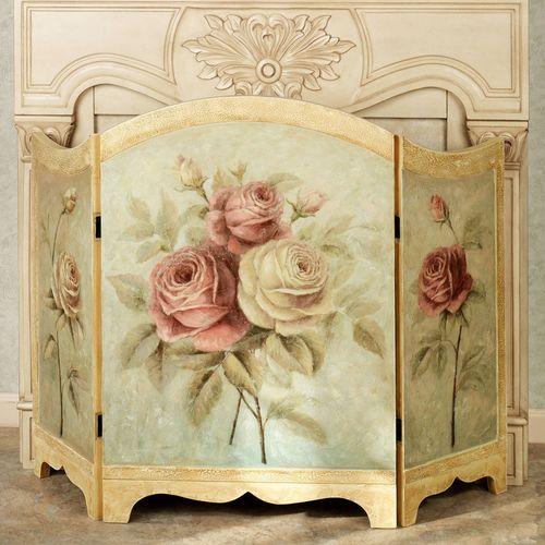 Rose Delight Fireplace Screen Multi Pastel