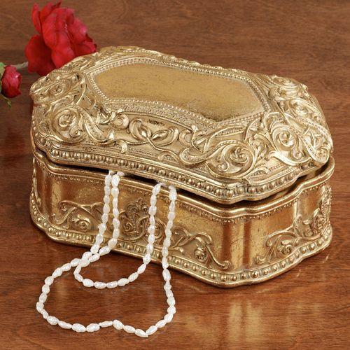 Sondraly Covered Box Gold