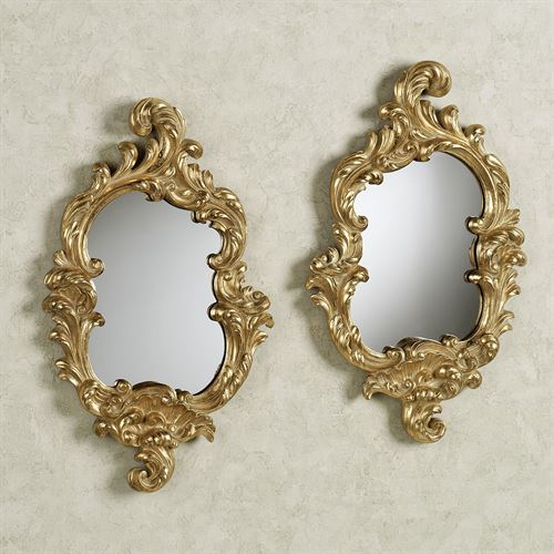 Eliza Wall Mirror Set Gold Set of Two