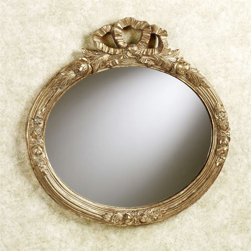 Ribbon Oval Wall Mirror Gold