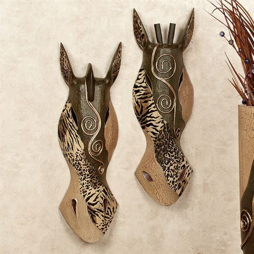 Primal Animal Print Mask Set Brown Set of Two