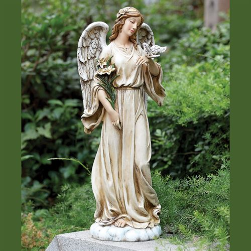 Peace Angel Statue Weathered White