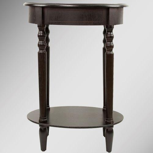 Reigna Oval Accent Table Espresso