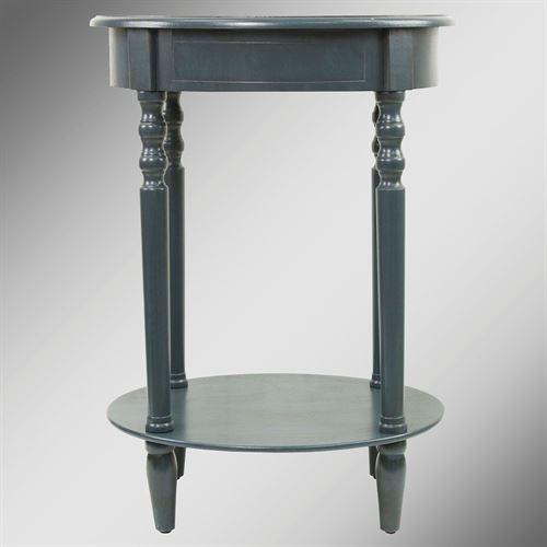 Reigna Oval Accent Table Navy