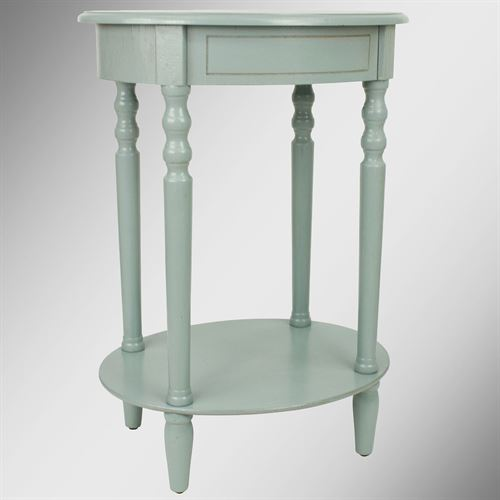 Reigna Oval Accent Table Pale Blue