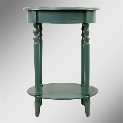 Reigna Oval Accent Table Teal